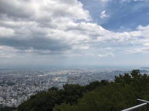 眉山からの徳島の眺め